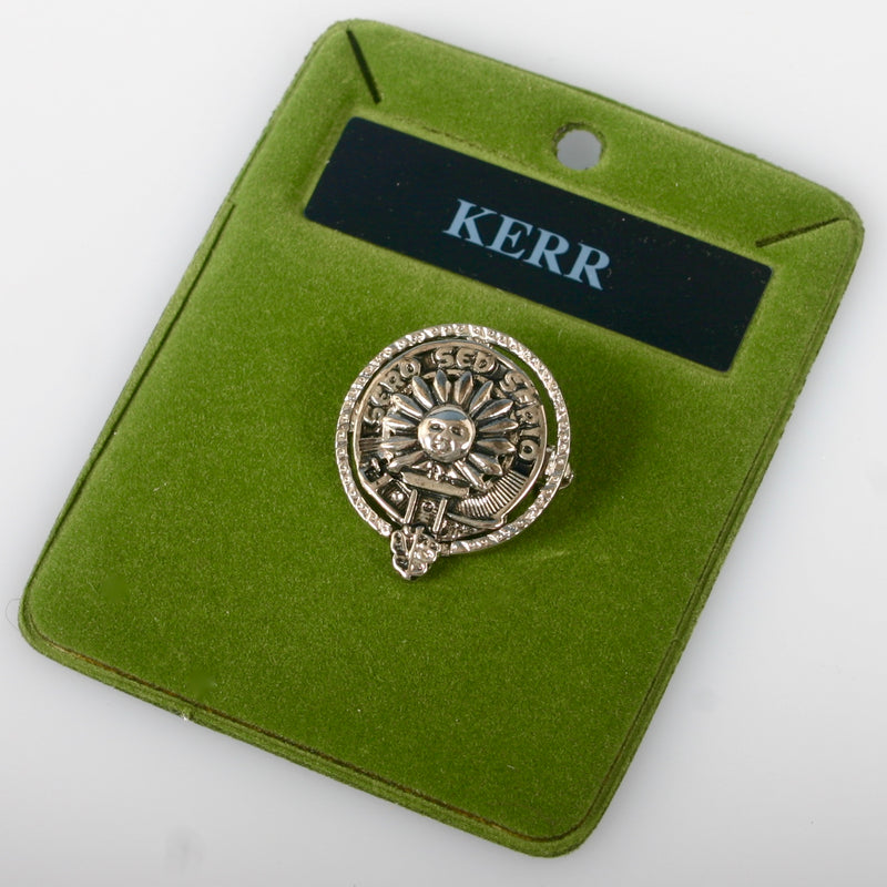 Kerr Clan Crest Small Pewter Pin Badge