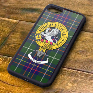 Inglis Tartan and Clan Crest iPhone Rubber Case