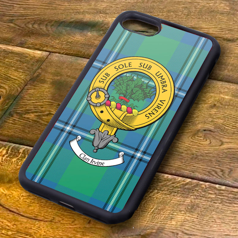 Irvine Tartan and Clan Crest iPhone Rubber Case
