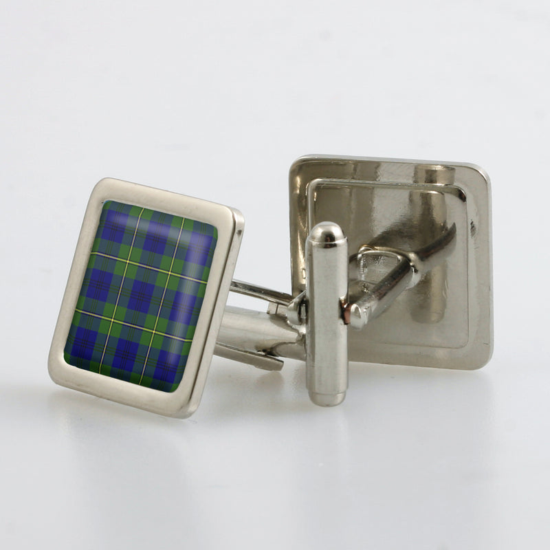 Johnstone Modern Tartan Cufflinks - Choose Your Shape