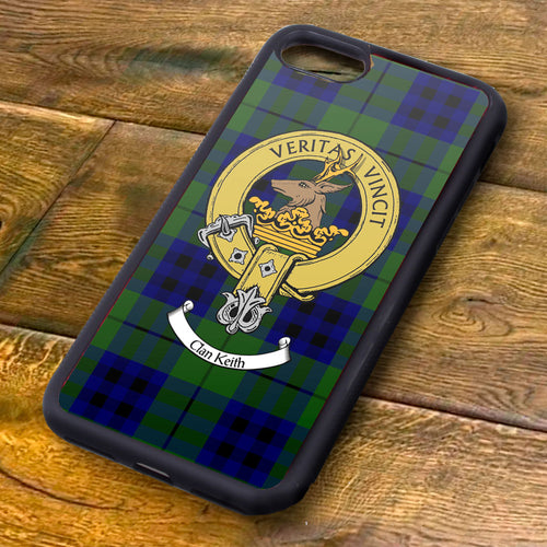 Keith Tartan and Clan Crest iPhone Rubber Case
