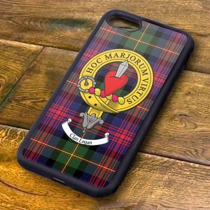 Logan Tartan and Clan Crest iPhone Rubber Case