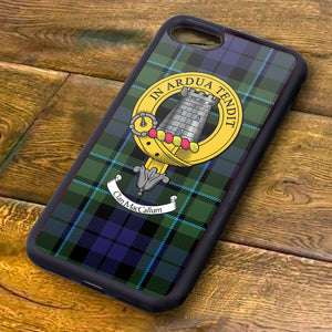 MacCallum Tartan and Clan Crest iPhone Rubber Case