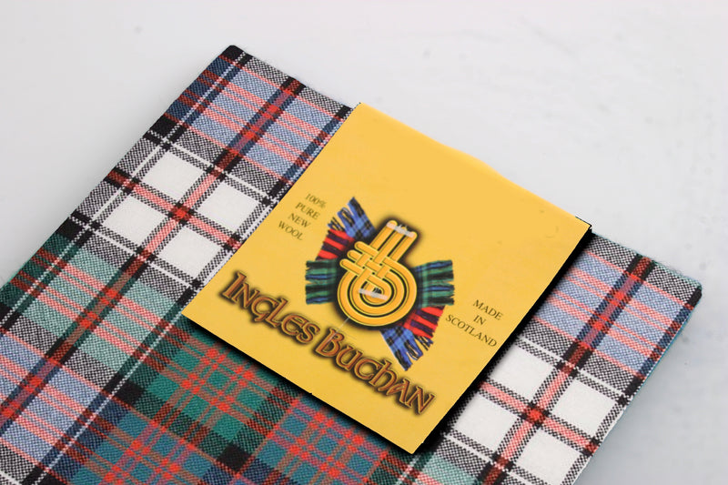 Wool Tartan Pocket Square in MacDonald Dress Ancient Tartan