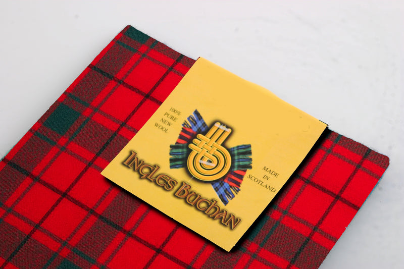 Wool Tartan Pocket Square in MacDonald of the Isles Red Tartan