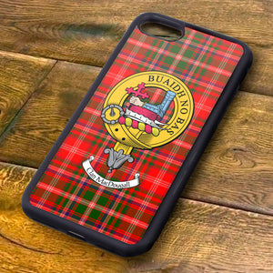 MacDougall Tartan and Clan Crest iPhone Rubber Case