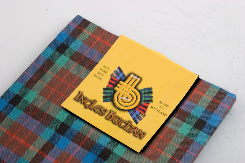 Wool Tartan Pocket Square in MacDuff Hunting Ancient Tartan
