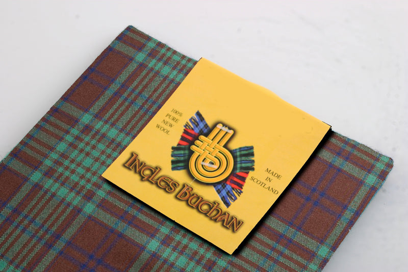 Wool Tartan Pocket Square in MacGillivray Hunting Ancient Tartan