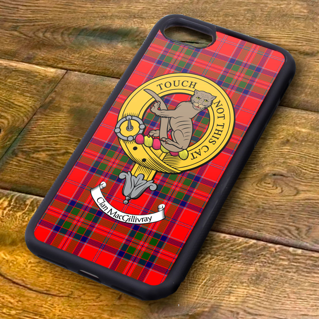 MacGillivray Tartan and Clan Crest iPhone Rubber Case