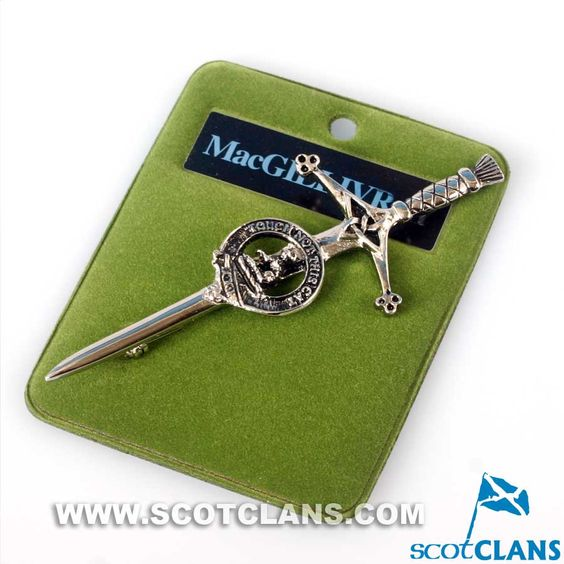 Clan Crest Pewter Kilt Pin with MacGillivray Crest