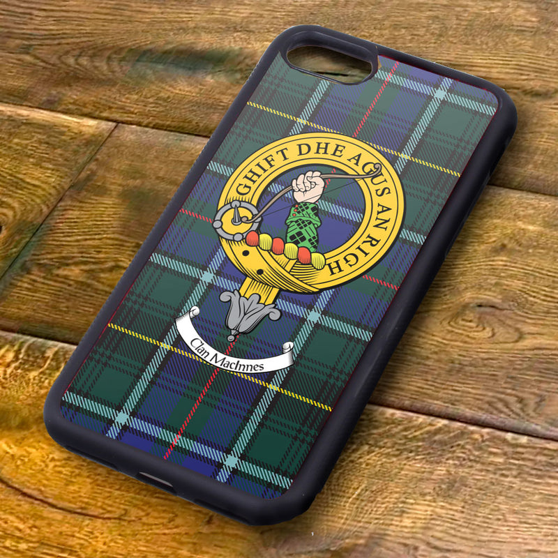 MacInnes Tartan and Clan Crest iPhone Rubber Case