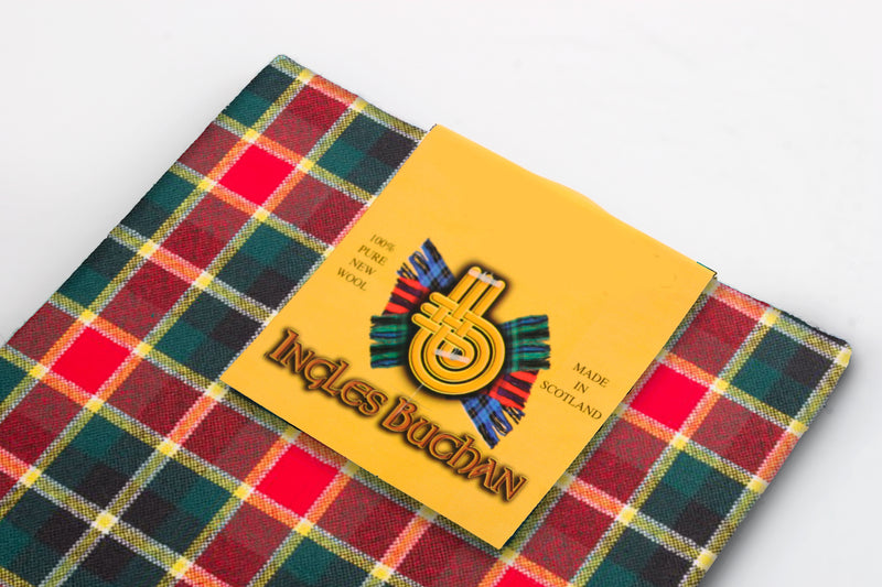 Wool Tartan Pocket Square in MacLachlan Hunting Ancient Tartan
