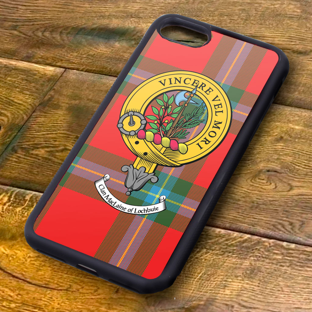 MacLaine Tartan and Clan Crest iPhone Rubber Case