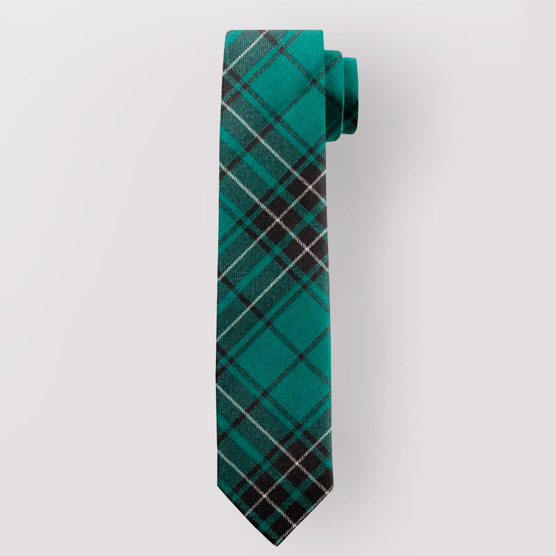 Pure Wool Tie in MacLean Hunting Ancient Tartan