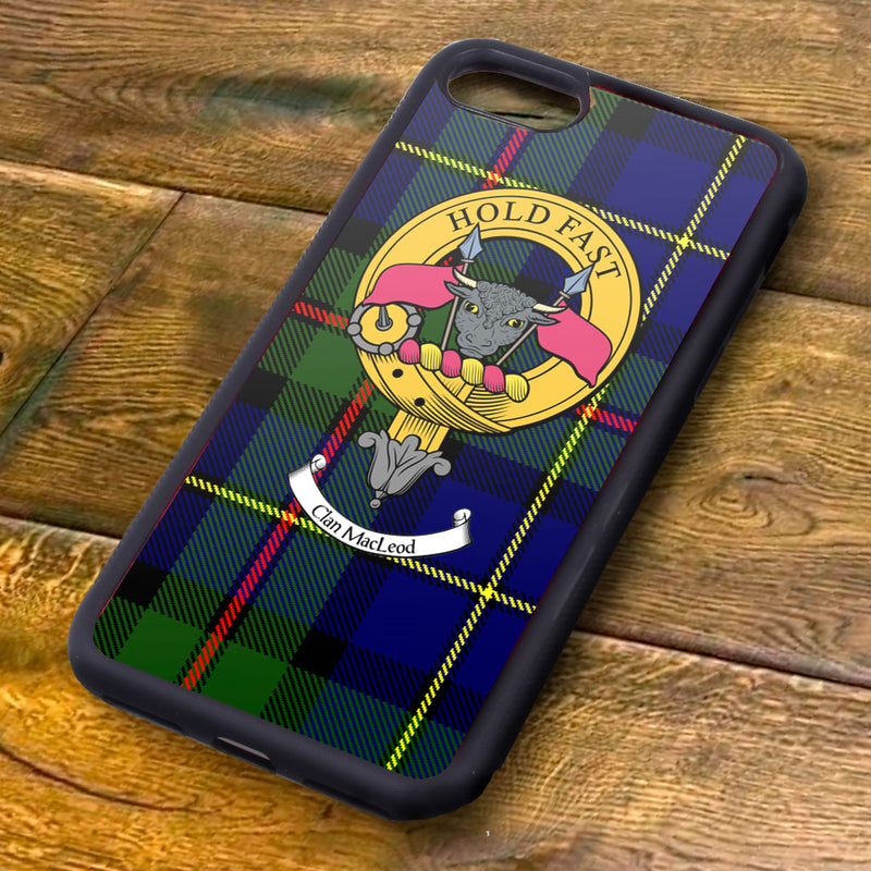 MacLeod Tartan and Clan Crest iPhone Rubber Case