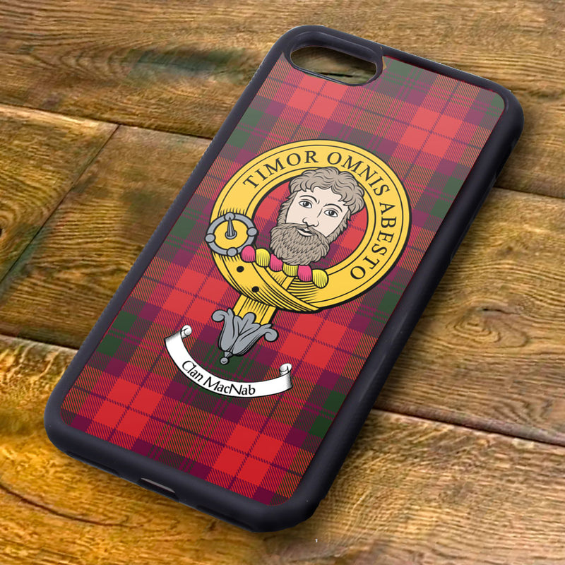 MacNab Tartan and Clan Crest iPhone Rubber Case