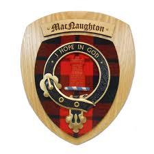 MacNaughton Clan Crest Plaque