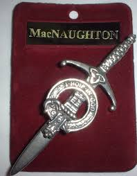 Clan Crest Pewter Kilt Pin with MacNaughton Crest