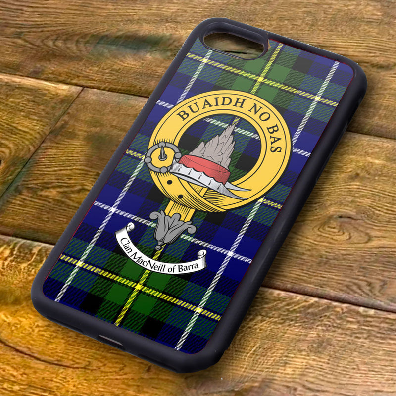 MacNeil Tartan and Clan Crest iPhone Rubber Case