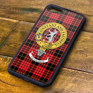 MacQueen Tartan and Clan Crest iPhone Rubber Case