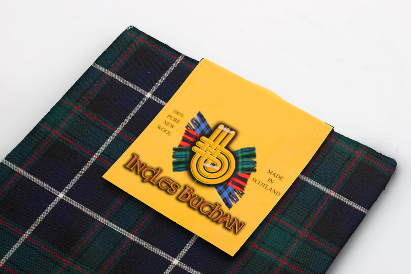 Wool Tartan Pocket Square in MacRae Hunting Modern Tartan