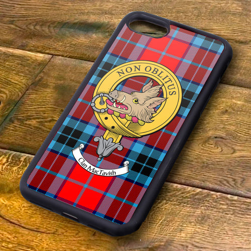 MacTavish Tartan and Clan Crest iPhone Rubber Case