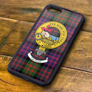 MacDonald Tartan and Clan Crest iPhone Rubber Case