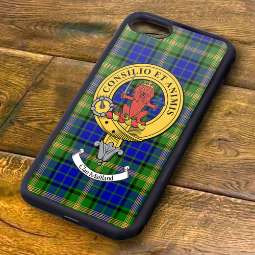Maitland Tartan and Clan Crest iPhone Rubber Case