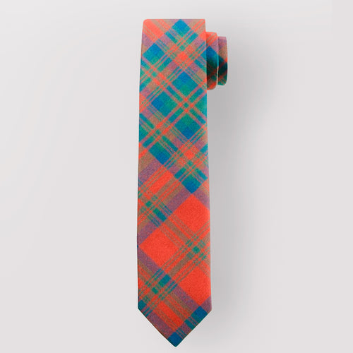 Pure Wool Tie in Matheson Red Ancient Tartan.