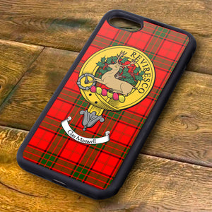 Maxwell Tartan and Clan Crest iPhone Rubber Case