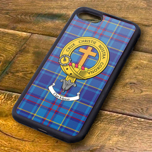 Mercer Tartan and Clan Crest iPhone Rubber Case