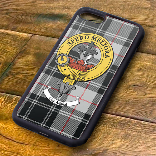 Moffat Tartan and Clan Crest iPhone Rubber Case