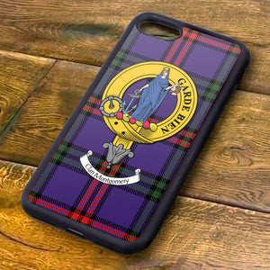 Montgomery Tartan and Clan Crest iPhone Rubber Case