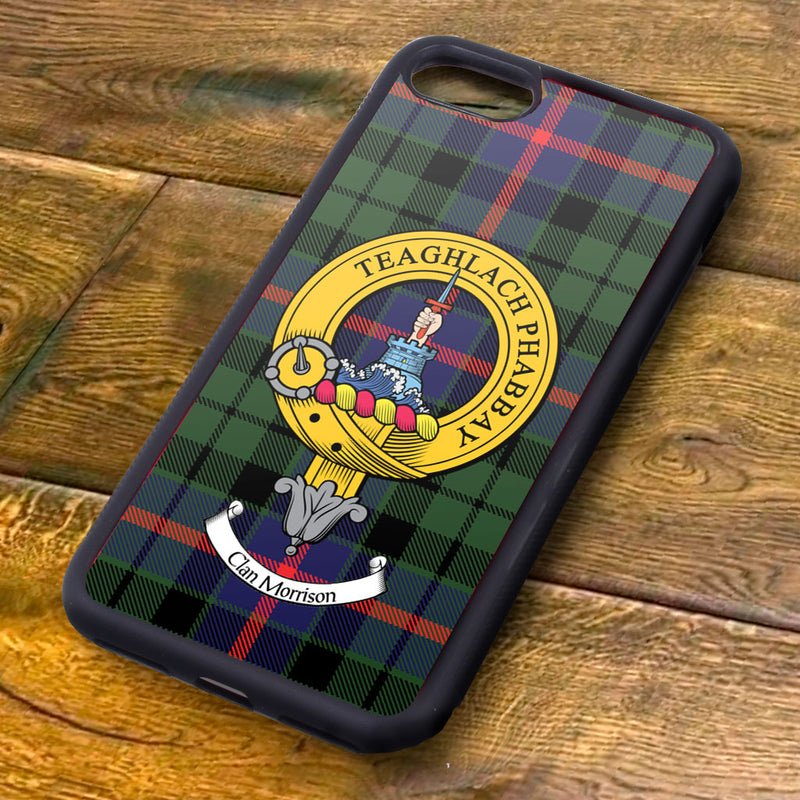 Morrison Tartan and Clan Crest iPhone Rubber Case