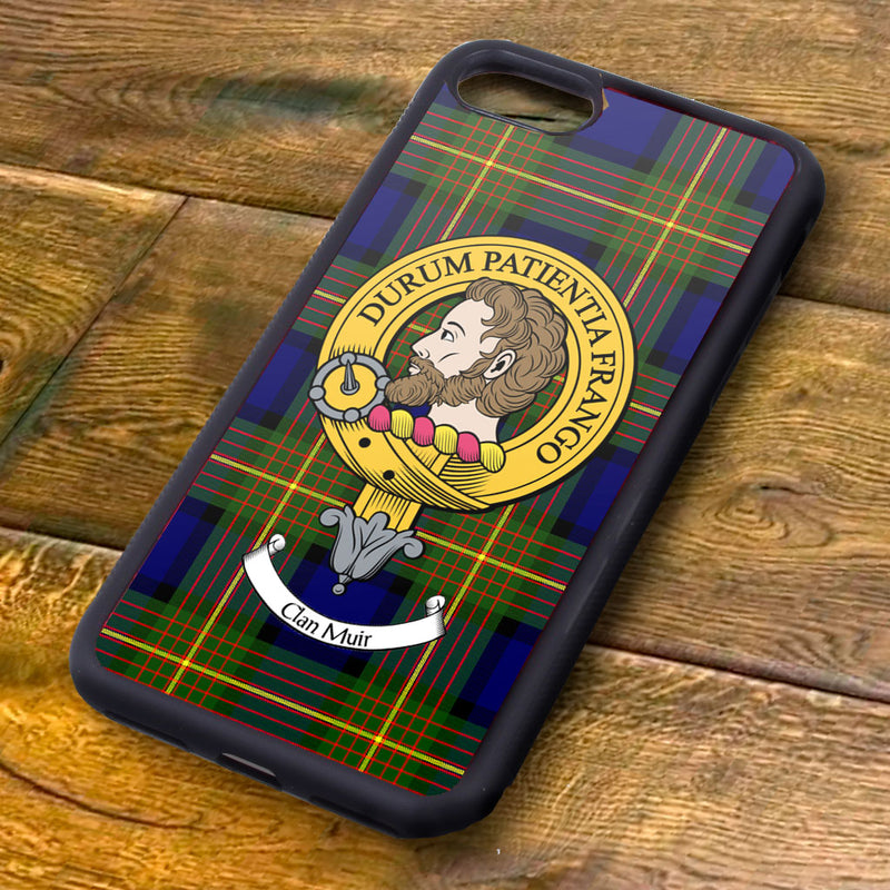 Muir Tartan and Clan Crest iPhone Rubber Case