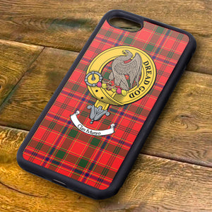 Munro Tartan and Clan Crest iPhone Rubber Case