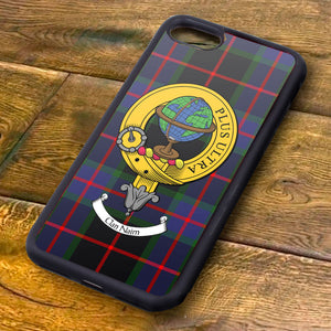 Nairn Tartan and Clan Crest iPhone Rubber Case