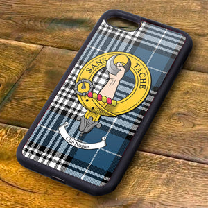 Napier Tartan and Clan Crest iPhone Rubber Case