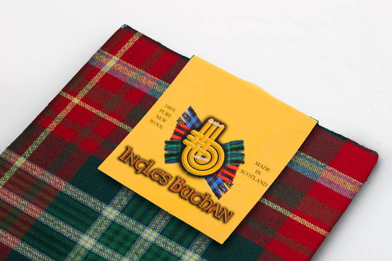 Wool Tartan Pocket Square in New Brunswick Tartan