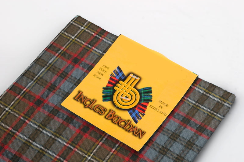 Wool Tartan Pocket Square in Nicholson Hunting Weathered Tartan