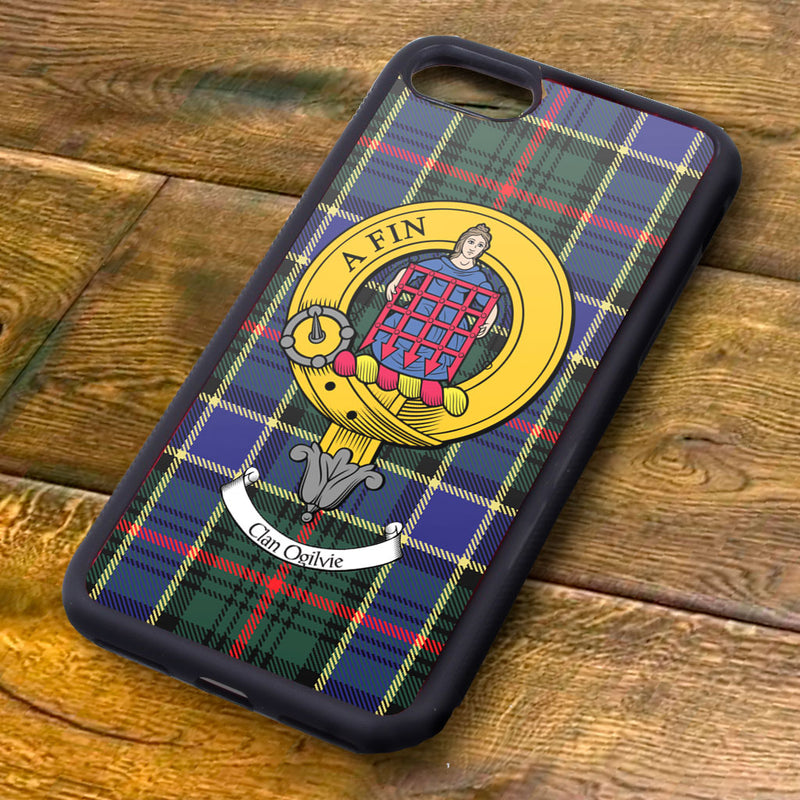Ogilvie Tartan and Clan Crest iPhone Rubber Case