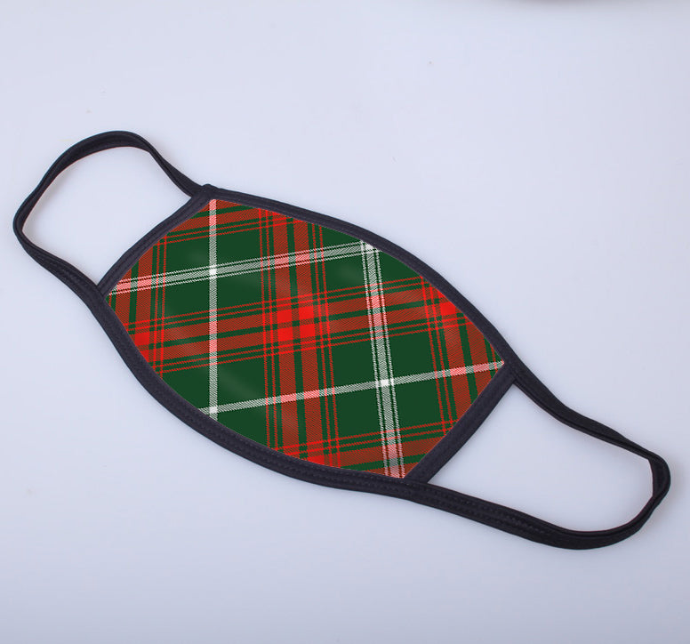 Prince of Wales Tartan Printed Face Mask.