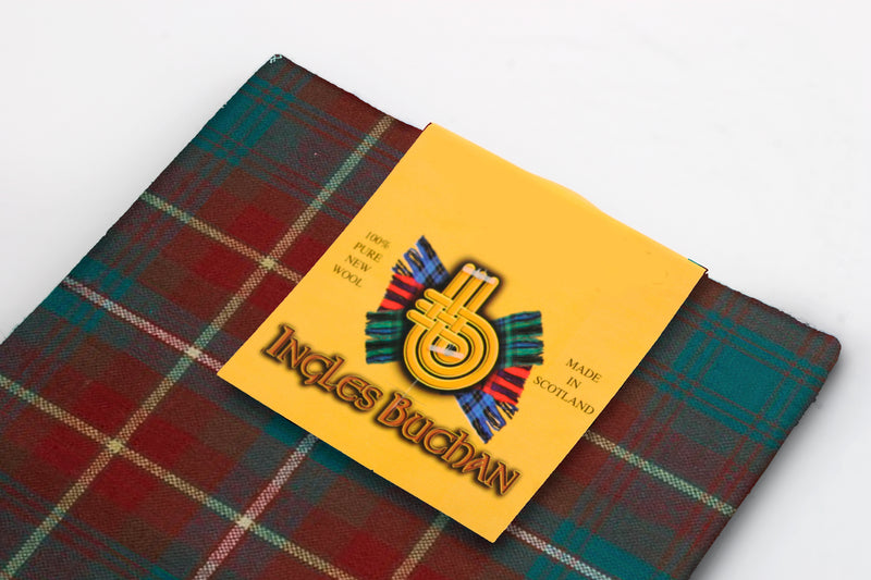 Wool Tartan Pocket Square in Prince Edward Island Tartan