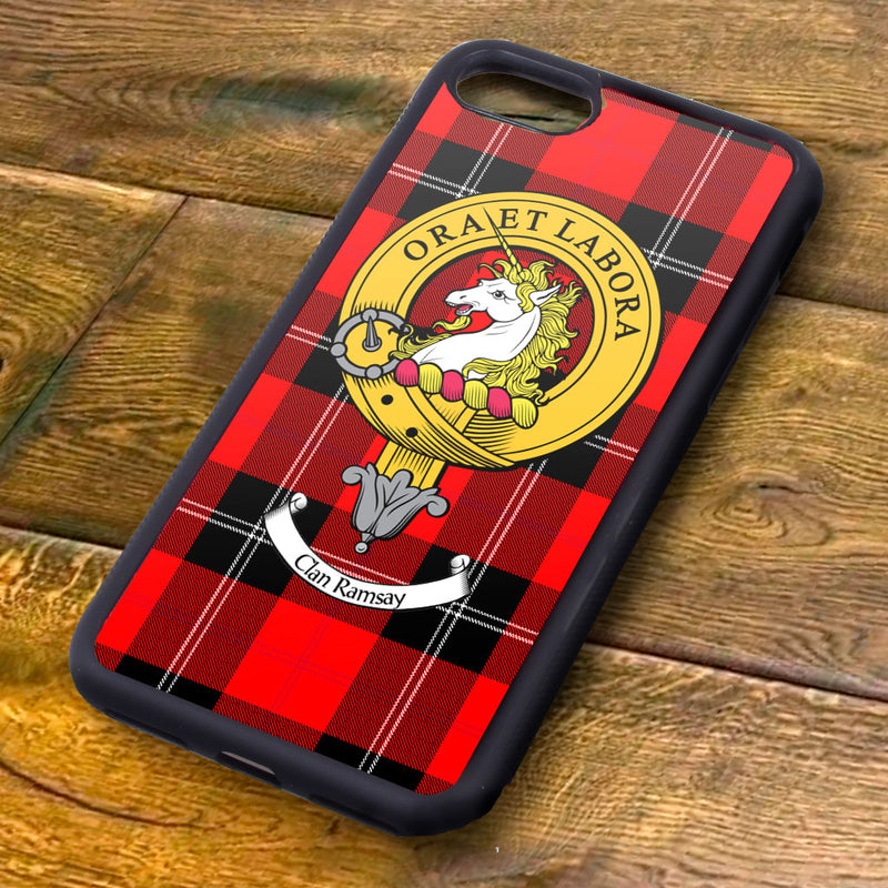 Ramsay Tartan and Clan Crest iPhone Rubber Case