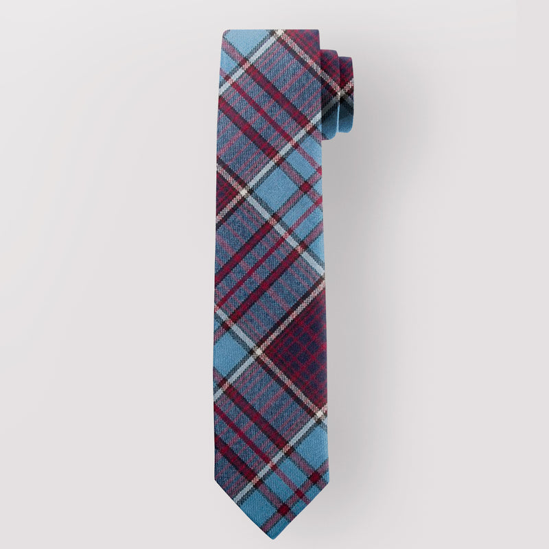 Pure Wool Tie in Royal Canadian Airforce Tartan