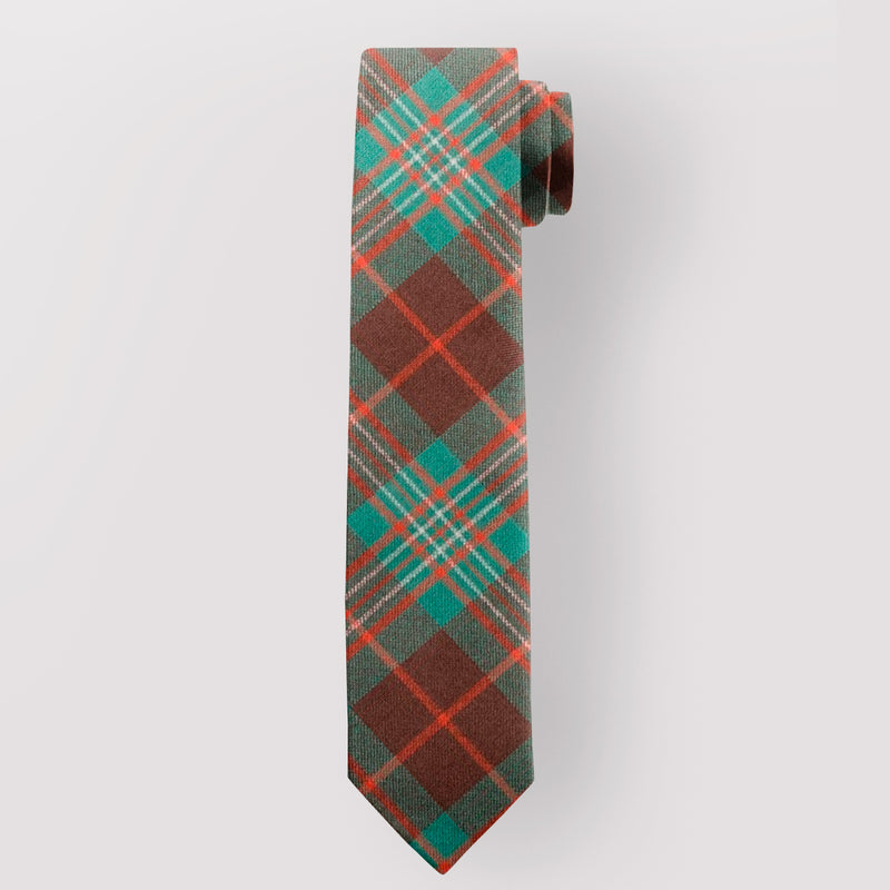 Pure Wool Tie in Scott Brown Ancient Tartan.