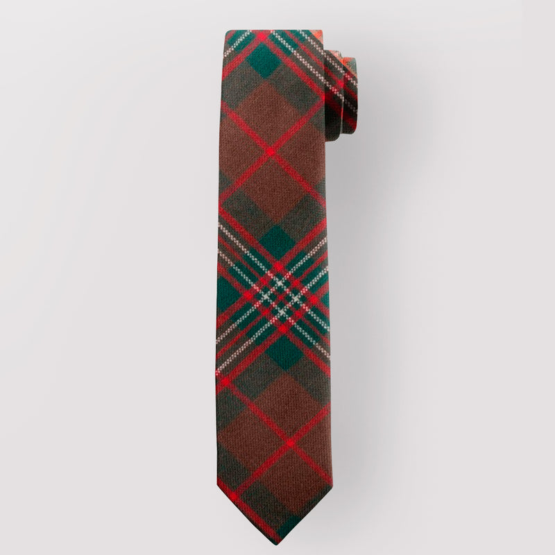 Pure Wool Tie in Scott Brown Modern Tartan