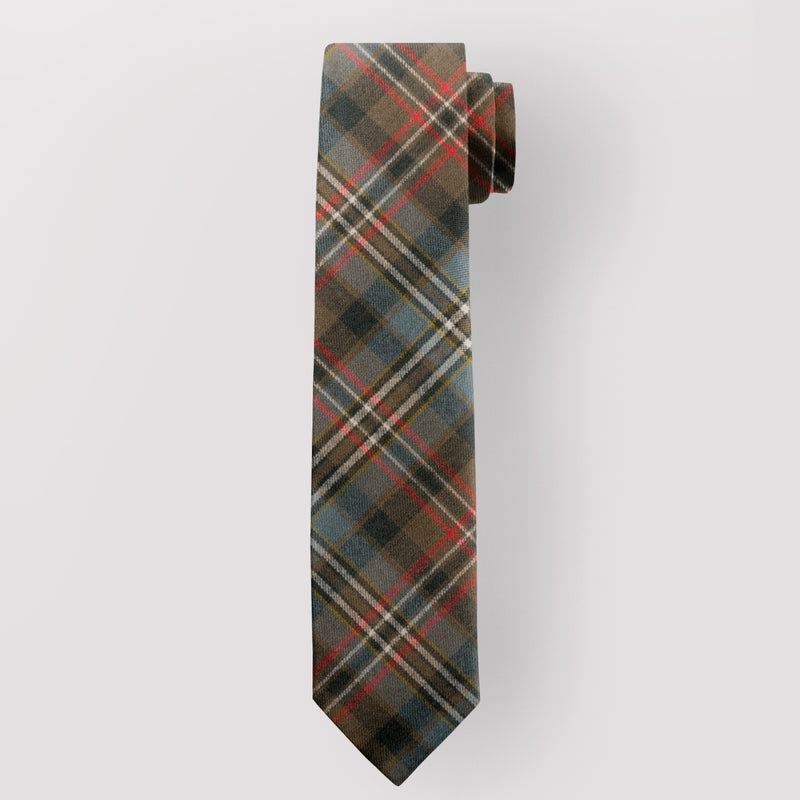 Pure Wool Tie in Scott Green Weathered Tartan
