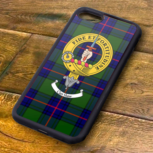 Shaw Tartan and Clan Crest iPhone Rubber Case