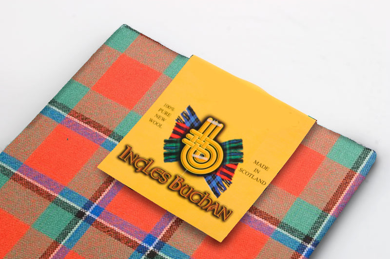 Wool Tartan Pocket Square in Sinclair Ancient Tartan
